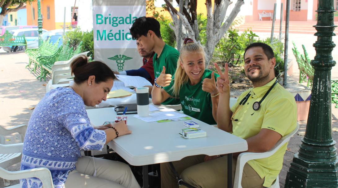 High School Special volunteers assist at a healthcare screening outreach in Mexico